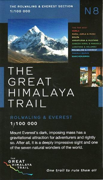 N08 Great Himalayan Trail: Rolwaling & Everest 9780956981776  Newgrove Consultants Great Himalayan Trail 1:100th.  Wandelkaarten Nepal