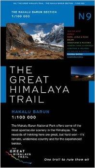 N09 Great Himalayan Trail: Makalu Barun 9780956981783  Newgrove Consultants Great Himalayan Trail 1:100th.  Wandelkaarten Nepal