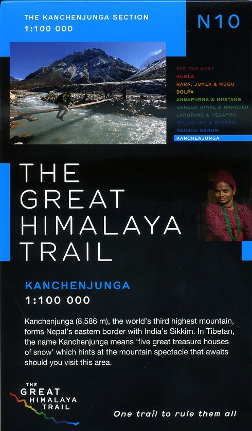 N10 Great Himalayan Trail: Kanchenjunga 9780956981790  Newgrove Consultants Great Himalayan Trail 1:100th.  Wandelkaarten Nepal