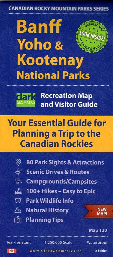 Banff, Kootenay, Yoho: 1:250.000 9780978243371  Canada National Parks  Landkaarten en wegenkaarten West-Canada, Rockies