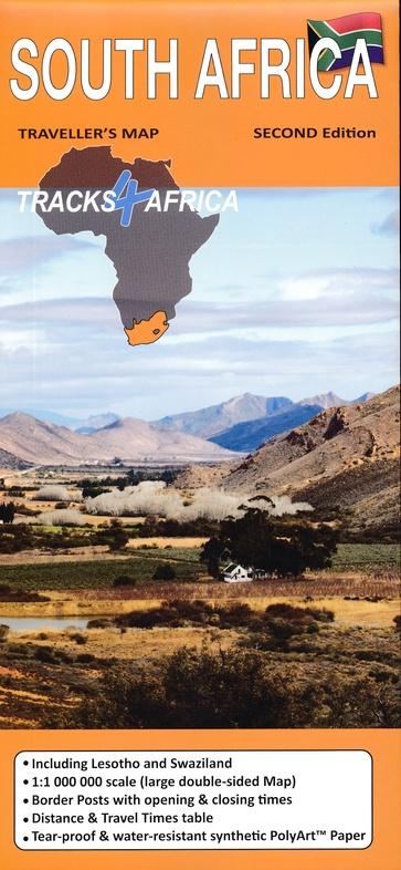 Zuid-Afrika traveller's map (wegenkaart) 1:1.000.000 9780994720801  Tracks4Africa   Landkaarten en wegenkaarten Zuid-Afrika