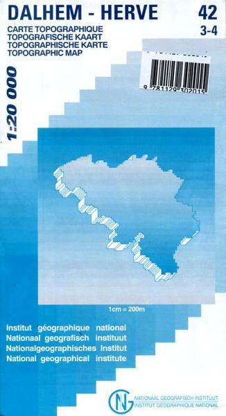 NGI-42/3-4  Dalhem/Herve, Charneux, Aubel, Val-Dieu 9781129302015  NGI Belgie 1:20.000/25.000  Wandelkaarten Wallonië (Ardennen)
