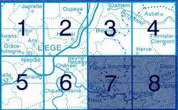 NGI-42/7-8  Fleron/Verviers 9781129302053  NGI Belgie 1:20.000/25.000  Wandelkaarten Wallonië (Ardennen)