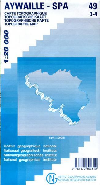 NGI-49/3-4  Aywaille-Spa | topografische wandelkaart 1:20.000 9781129302350  NGI Belgie 1:20.000/25.000  Wandelkaarten Wallonië (Ardennen)