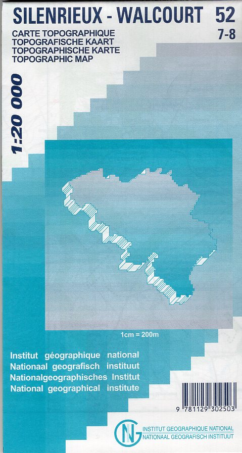 NGI-52/7-8  Silenrieux, Walcourt | topografische wandelkaart 1:20.000 9781129302503  NGI Belgie 1:20.000/25.000  Wandelkaarten Wallonië (Ardennen)