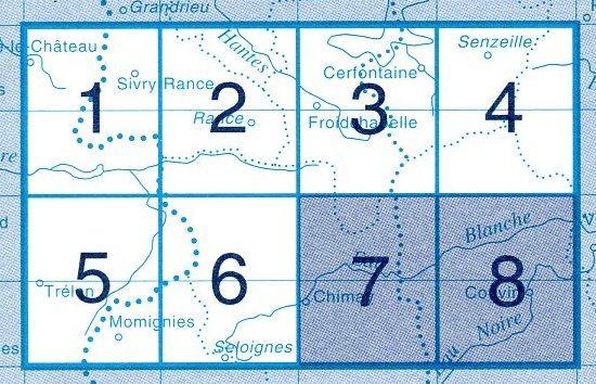 NGI-57/7-8  Chimay-Couvin | topografische wandelkaart 1:20.000 9781129302749  NGI Belgie 1:20.000/25.000  Wandelkaarten Wallonië (Ardennen)