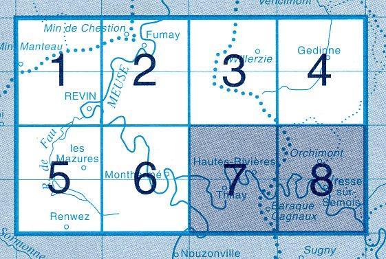 NGI-63/7-8  Baraque Cagnaux, Orchimont | topografische wandelkaart 1:20.000 9781129302947  NGI Belgie 1:20.000/25.000  Wandelkaarten Wallonië (Ardennen)