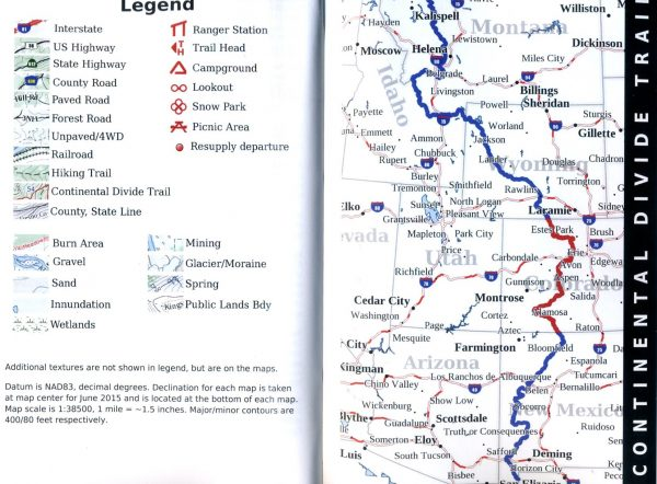 Continental Divide Trail Pocket Maps - Colorado 9781505557336 K Scott Parks Trail Pocket Maps   Meerdaagse wandelroutes, Wandelgidsen Colorado, Arizona, Utah, New Mexico