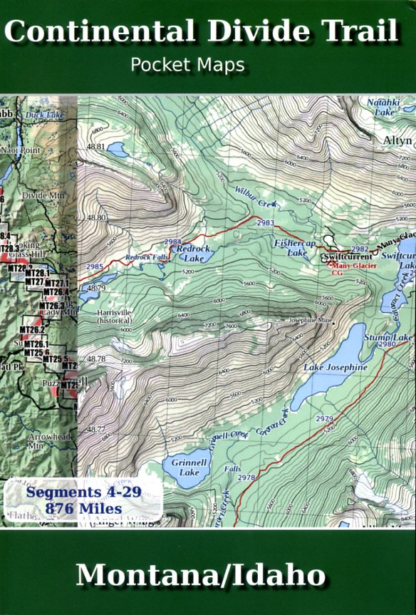 Continental Divide Trail Pocket Maps - Montana/Idaho 9781505579864  Trail Pocket Maps   Meerdaagse wandelroutes, Wandelgidsen Washington, Oregon, Idaho, Wyoming, Montana