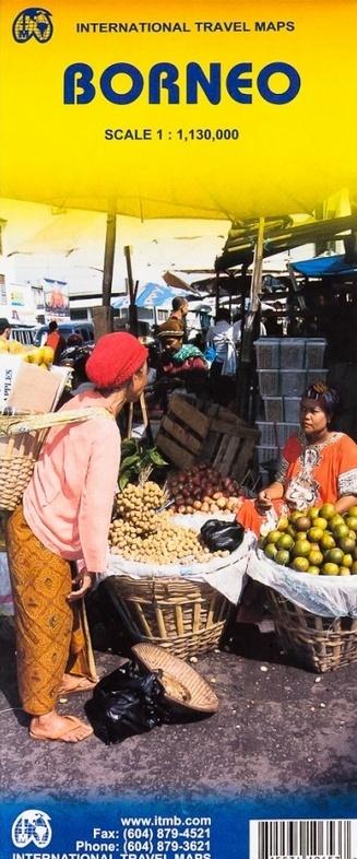 Borneo (Kalimantan) | landkaart, autokaart 1:1.130.000 9781553410652  ITM   Landkaarten en wegenkaarten Zuid-Oost Azië