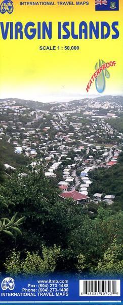 Virgin Islands | wandelkaart, autokaart 1:50.000 9781553410799  ITM   Landkaarten en wegenkaarten Overig Caribisch gebied