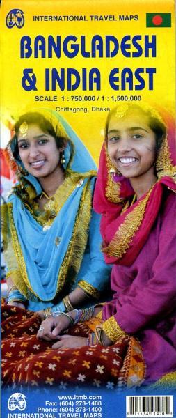 Bangladesh | landkaart, autokaart 9781553411420  ITM   Landkaarten en wegenkaarten Bangla Desh