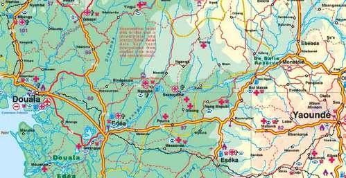 Cameroon 1:1,5m. en Gabon 1:950d.   landkaart, autokaart 9781553411574  ITM   Landkaarten en wegenkaarten Centraal-Afrika: Kameroen, Centraal-Afrikaanse Republiek, Equatoriaal Guinee, Gabon, Congo