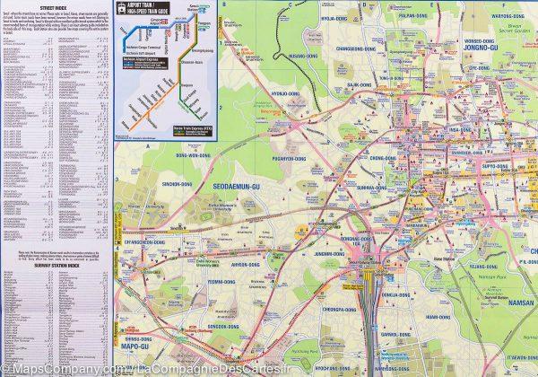 South Korea 1:550.000, and Seoul 1:15.000 | autokaart, stadsplattegrond 9781553412762  ITM   Landkaarten en wegenkaarten, Stadsplattegronden Noord-Korea, Zuid-Korea