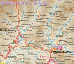 Lesotho | landkaart, autokaart 1:350.000 9781553412953  ITM   Landkaarten en wegenkaarten Zuid-Afrika