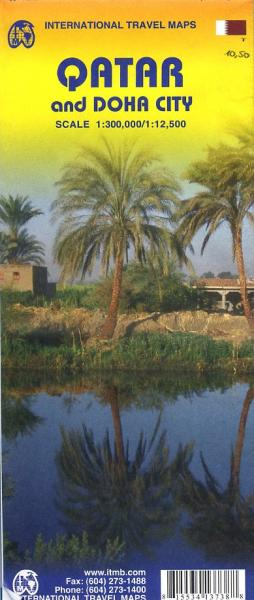 Qatar | landkaart, autokaart 1:300.000 9781553413738  ITM   Landkaarten en wegenkaarten Oman, Abu Dhabi, Dubai, Saudi-Arabië, Jemen