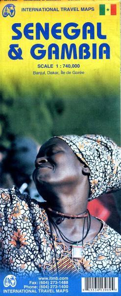 Senegal 1:700.000, Gambia 1:340.000; | landkaart, autokaart 9781553413981  ITM   Landkaarten en wegenkaarten West-Afrikaanse kustlanden (van Senegal tot en met Nigeria)