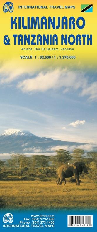 Kilimanjaro 1:62.500 9781553414728  ITM   Wandelkaarten Tanzania, Zanzibar