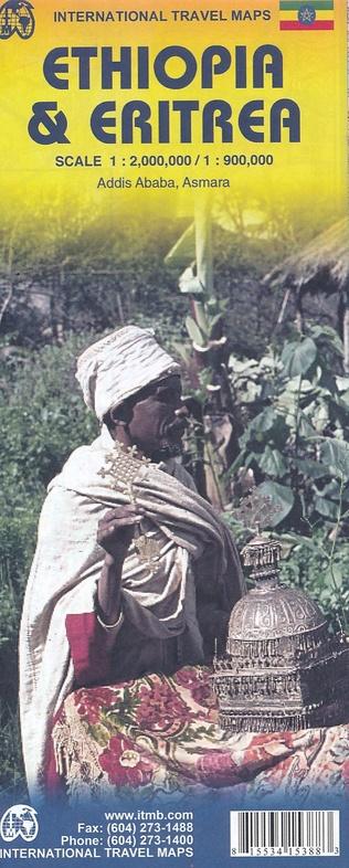 Ethiopia | landkaart, autokaart 1:2.000.000 9781553415381  ITM   Landkaarten en wegenkaarten Ethiopië, Somalië, Eritrea