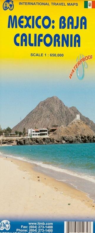 Baja California | landkaart, autokaart 1:650.000 9781553415435  ITM   Landkaarten en wegenkaarten Mexico behalve Yucatan