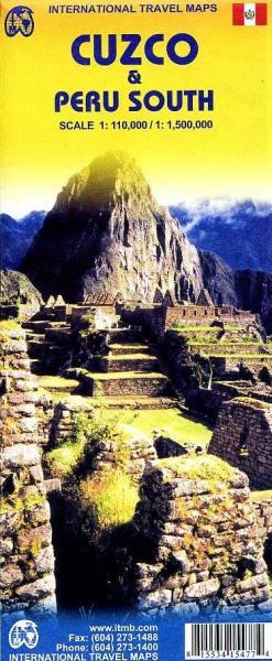 Peru, Cuzco Region | landkaart, autokaart 1:110.000 9781553415473  ITM   Landkaarten en wegenkaarten Peru