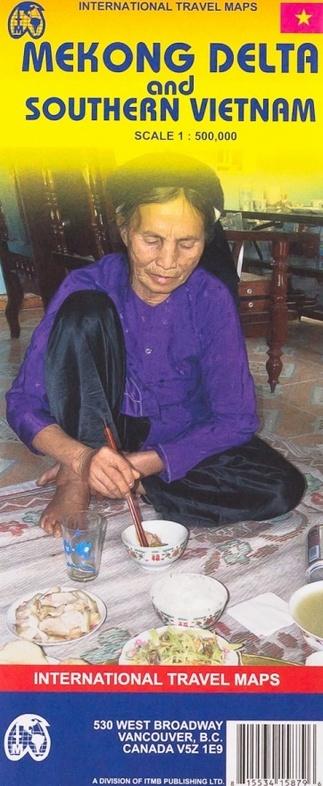 Mekong Delta  | landkaart, autokaart 1:500.000 9781553415879  ITM   Landkaarten en wegenkaarten Vietnam