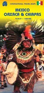Mexico Oaxaca & Chiapas  | landkaart, autokaart 1:1.000.000 9781553415930  ITM   Landkaarten en wegenkaarten Yucatan, Guatemala, Belize