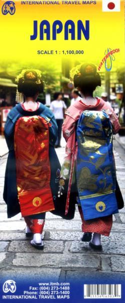 Japan | landkaart, autokaart 1:1.100.000 9781553416500  ITM   Landkaarten en wegenkaarten Japan
