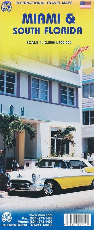 Miami and Florida South | landkaart, autokaart 1:400.000 9781553416746  ITM   Landkaarten en wegenkaarten, Stadsplattegronden Florida