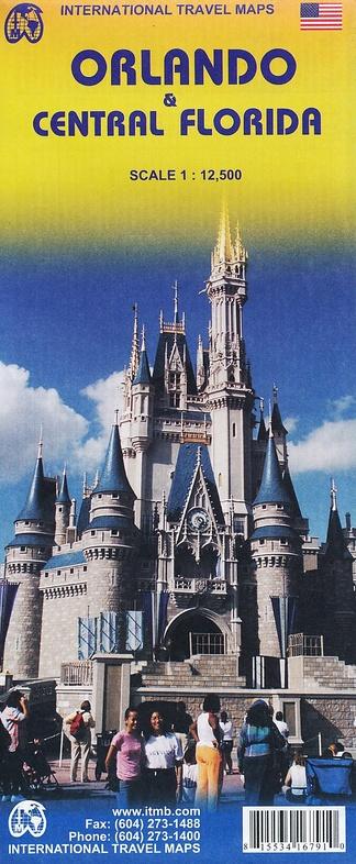 Florida Central and Orlando | landkaart, autokaart 1:400.000 9781553416791  ITM   Landkaarten en wegenkaarten Florida