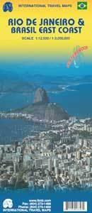Rio de Janeiro & Brasil East Coast | landkaart, autokaart 9781553416845  ITM   Landkaarten en wegenkaarten, Stadsplattegronden Brazilië