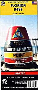 Florida Keys | landkaart, autokaart 1:120.000 9781553419198  ITM   Landkaarten en wegenkaarten Florida