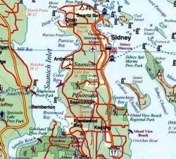 Vancouver Island South 1:250.000 | landkaart, autokaart (waterproof) 9781553419778  ITM   Landkaarten en wegenkaarten West-Canada, Rockies