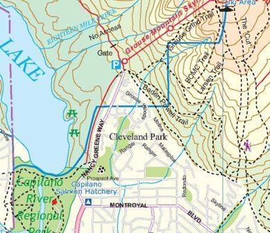 Vancouver North, Port Coquitliam 1:50.000 9781553419839  ITM   Wandelkaarten West-Canada, Rockies