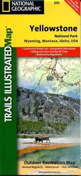 TI201  Yellowstone National Park 1:168.500 9781566952958  National Geographic / Trails Illustrated Nat.Park/Recr.Series  Landkaarten en wegenkaarten, Wandelkaarten Washington, Oregon, Idaho, Wyoming, Montana
