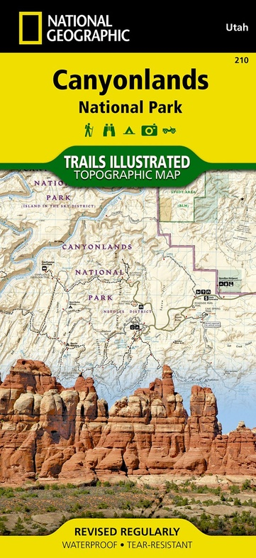 TI210 Canyonlands 1:70.000 9781566953269  National Geographic / Trails Illustrated Nat.Park/Recr.Series  Wandelkaarten Colorado, Arizona, Utah, New Mexico