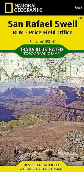 TI712  San Rafael Swell 1:90.000 9781566953313  National Geographic / Trails Illustrated Nat.Park/Recr.Series  Wandelkaarten Colorado, Arizona, Utah, New Mexico