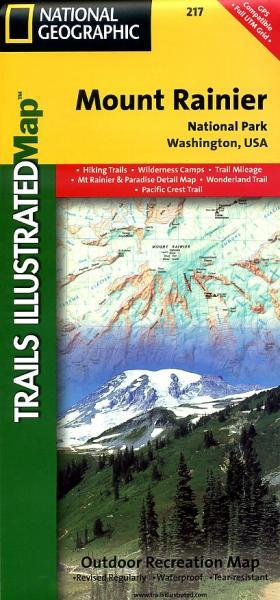 TI217  Mount Rainier National Park 1:50.000 9781566953450  National Geographic / Trails Illustrated Nat.Park/Recr.Series  Wandelkaarten Washington, Oregon, Idaho, Wyoming, Montana