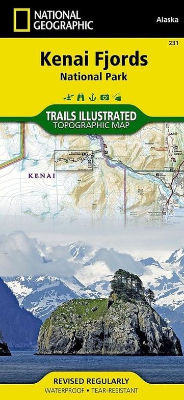 TI231  Kenai Fjords National Park 1:105.600 9781566953856  Trails Illustrated Nat.Park/Recr.Series  Wandelkaarten Alaska
