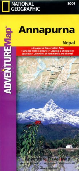 Annapurna adventure map 1:125.000 9781566955218  National Geographic / Trails Illustrated Wandelkaarten Nepal  Wandelkaarten Nepal