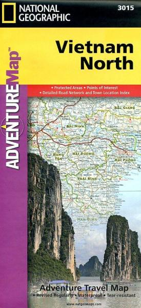 Noord-Vietnam landkaart / wegenkaart 1:650.000 9781566956017  National Geographic Adventure Maps  Landkaarten en wegenkaarten Vietnam