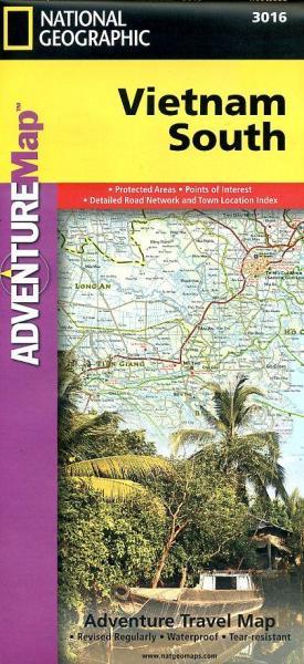 Zuid-Vietnam landkaart / wegenkaart 1:600.000 9781566956024  National Geographic Adventure Maps  Landkaarten en wegenkaarten Vietnam