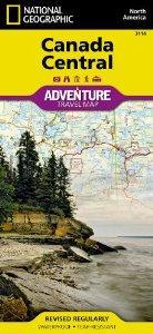 Central Canada 1:2.100.000 9781566956369  National Geographic   Landkaarten en wegenkaarten Canada ten oosten van de Rockies