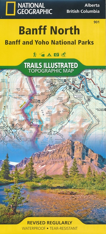 TI901  Banff North 1:100.000 9781566956598  National Geographic Trails Illustrated  Wandelkaarten West-Canada, Rockies
