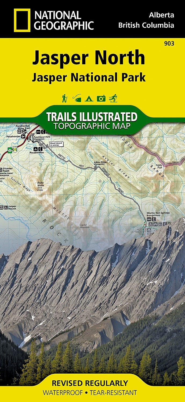 TI903  Jasper North 1:100.000 9781566956611  National Geographic Trails Illustrated  Wandelkaarten West-Canada, Rockies
