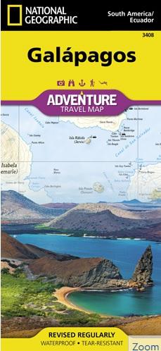 Galapagos Adventure Map 1:525.000 9781566957878  National Geographic   Landkaarten en wegenkaarten Ecuador, Galapagos