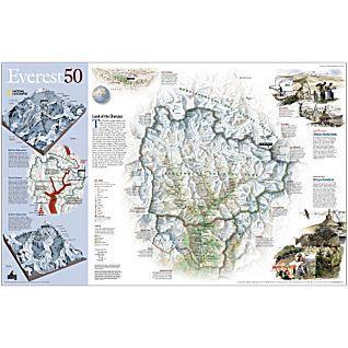 Sagarmatha 1:50.000 (Mount Everest, 59x95cm) 9781572623682  National Geographic NG planokaarten  Wandkaarten Nepal