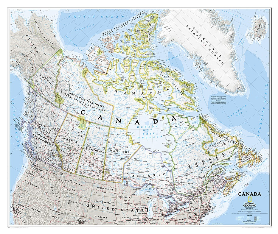 Canada | wandkaart 9781597753548  National Geographic NG planokaarten  Wandkaarten Canada