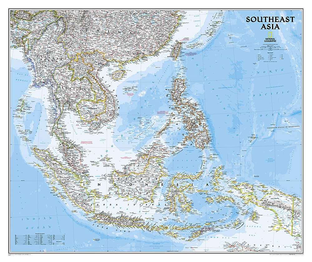 South-East Asia 9781597754439  National Geographic NG planokaarten  Wandkaarten Zuid-Oost Azië