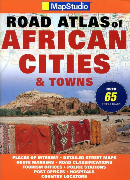 Road Atlas of African Cities and Towns 9781770260719  Map Studio   Wegenatlassen Afrika